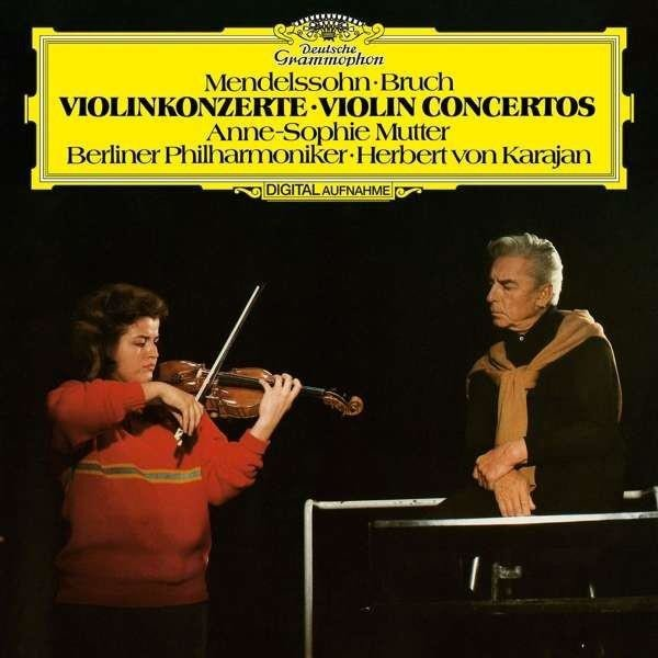 ANNE SOPHIE MUTTER Mendelssohn Bruch Violin Concertos LP