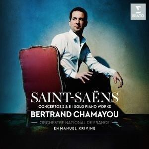 CHAMAYOU/ORCHESTRE NATIONALE DE FRANCE/KRIVINE Saint-Saens: Piano Concertos Nos. 2 & 5 LP