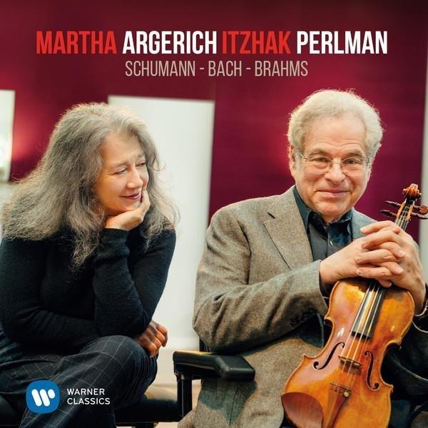 MARTHA ARGERICH/ITZHAK PERLMAN Perlman & Argerich Play Schumann, Bach & Brahms LP