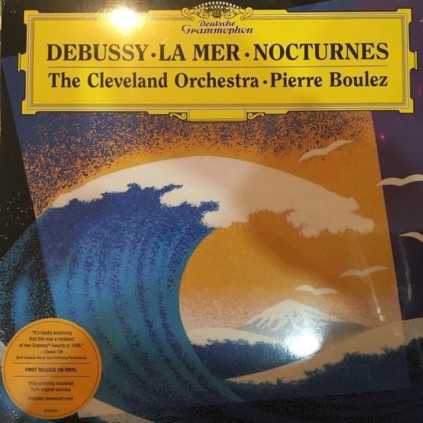 PIERRE BOULEZ Debussy La Mer, Nocturnes LP
