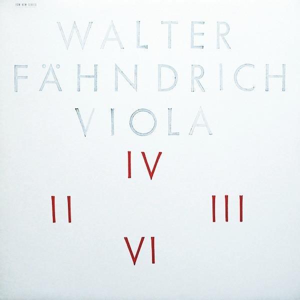WALTER FAHNDRICH Viola LP