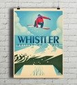 Whistler - Snowboard Booter PLAKAT